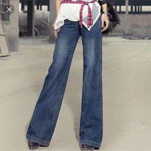 Trendy wide leg jeans